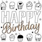 verjaardagskaart versturen - cupcakejes