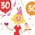 verjaardagskaart versturen - taart en wijn